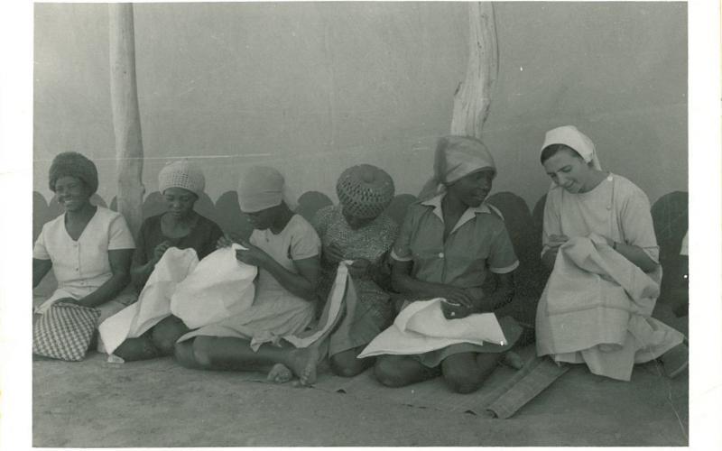 Taller de costura en Zimbabue (en torno a 1978)