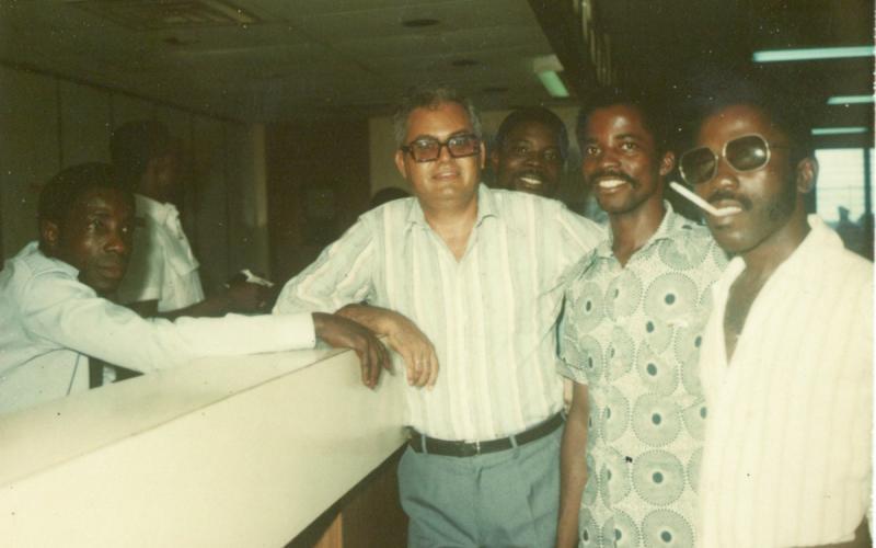Antonio Medina, a principios de los años 80