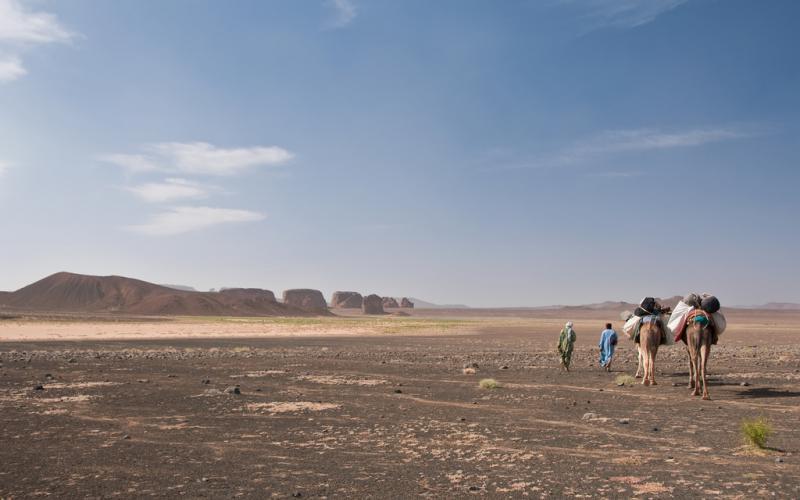 Caravana sobre la provincia de Adrar (Imagen: Henri Bourgeois-Costa/Flickr)