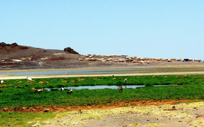 El lago Turkana, en el valle del Gran Rift de Kenia