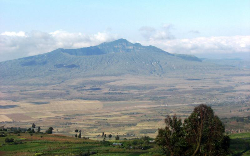Monte Longonot, en el valle del Gran Rift de Kenya