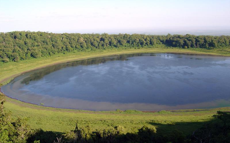 Lago Paradise en Marsabit, al norte de Kenia