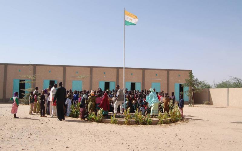 Exterior del colegio de la Fundación Pep Campaner. En la actualidad acoge a 470 niños