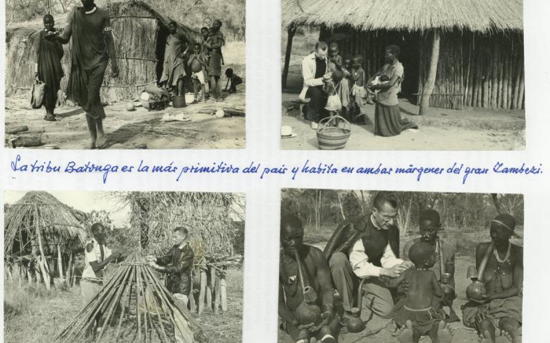Álbum de fotos personal. Con la tribu batonga en Rodesia (finales de los años 50)