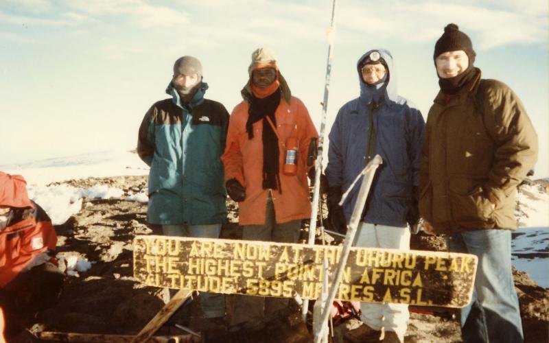 Lázaro Bustince en el Kilimanjaro (Tanzania)