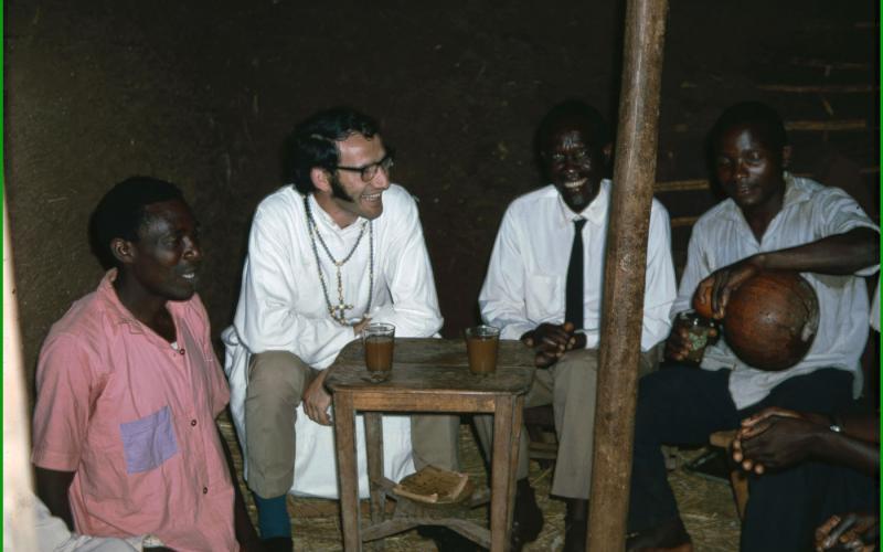 Lázaro Bustince en Uganda (años 70)