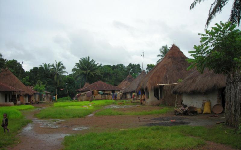 Uno de los poblados del norte de Sierra Leona, zona en la que trabajó Chema Caballero
