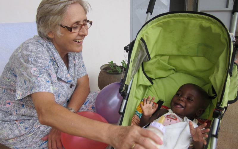 Magdalena Ribas, en el Hospital Saint Joseph de Bebedjia