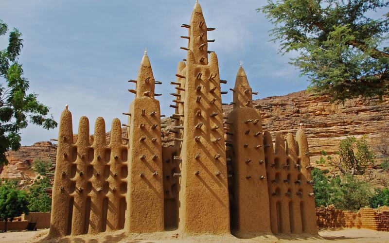 Mezquita dogón en el área de Bandiagara en 2009 (Imagen: Jean-Louis Potier/Flickr)
