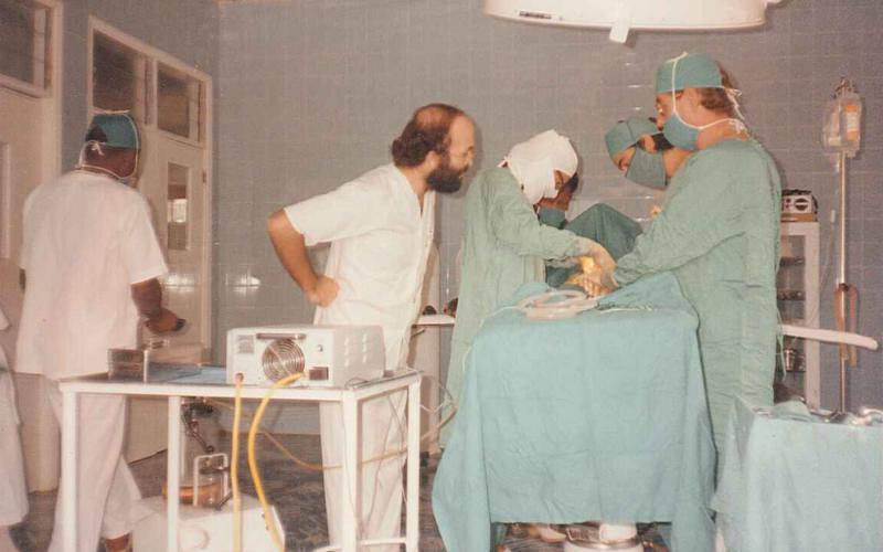 Quirófano del Hospital de Nguti (Camerún,1991)