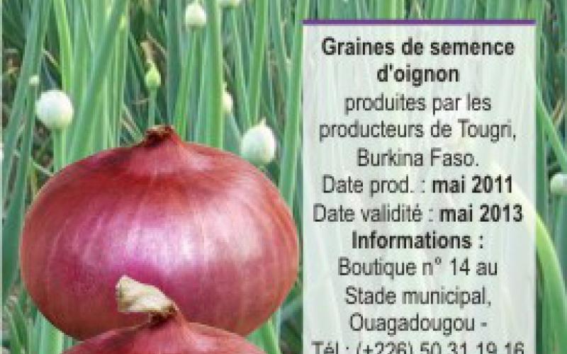 Semilla de cebolla con el nombre de Saturnino Fraile