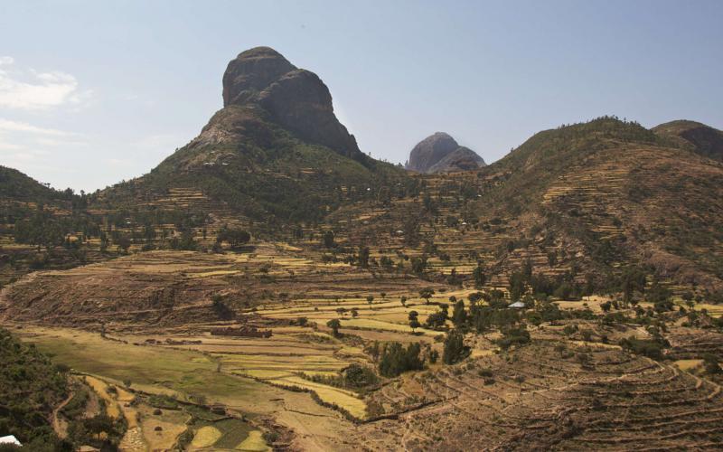 Terrazas en la zona del Tigray (Imagen: Alan Davey/Flickr)